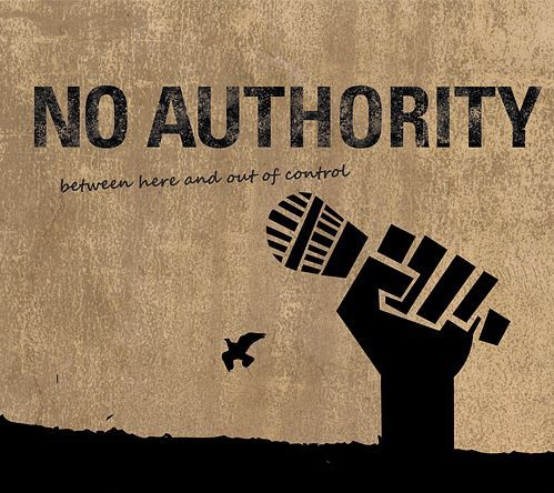 Cover NO AUTHORITY, between here and of control