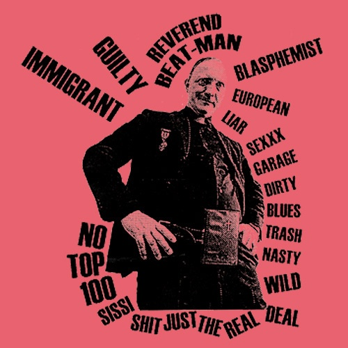 Cover REVEREND BEAT-MAN, reverend immigrant (girl), coral