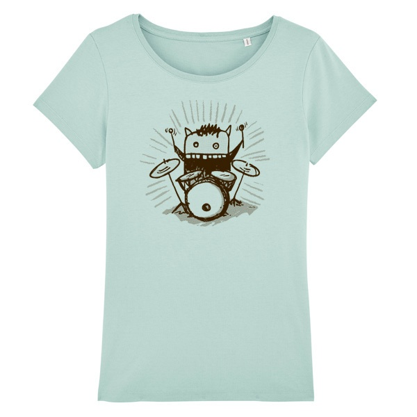 Cover RAUTIE, drumming cat (girl), white
