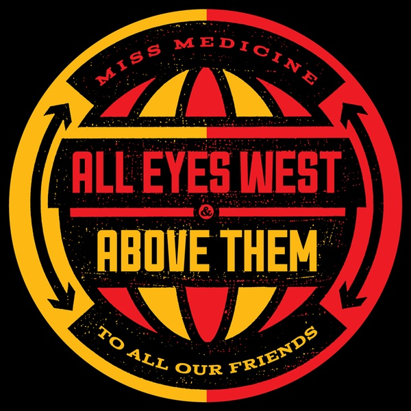 Cover ALL EYES WEST / ABOVE THEM