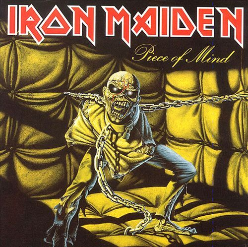IRON MAIDEN, piece of mind cover