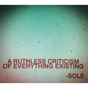 Cover SOLE, a ruthless criticism of everything existing