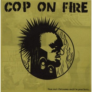 Cover COP ON FIRE / COMBAT WOMBAT, split