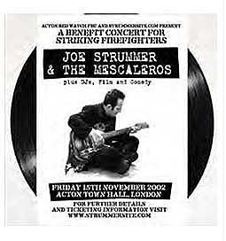 Cover JOE STRUMMER & MESCALEROS, live at acton
