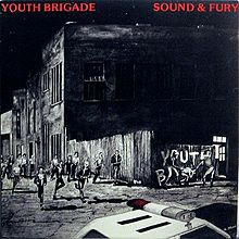 Cover YOUTH BRIGADE, sound & fury