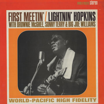 Cover LIGHTNIN´ HOPKINS, first meeting of blues giants