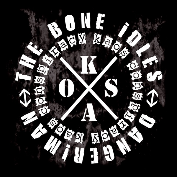 Cover BONE IDLES / DANGERMAN, kaos conspiracy