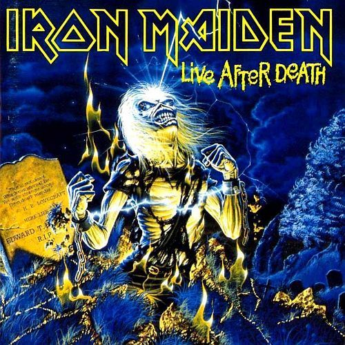 IRON MAIDEN, live after death cover
