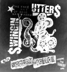 Cover SWINGIN´ UTTERS / MODERN ACTION, split