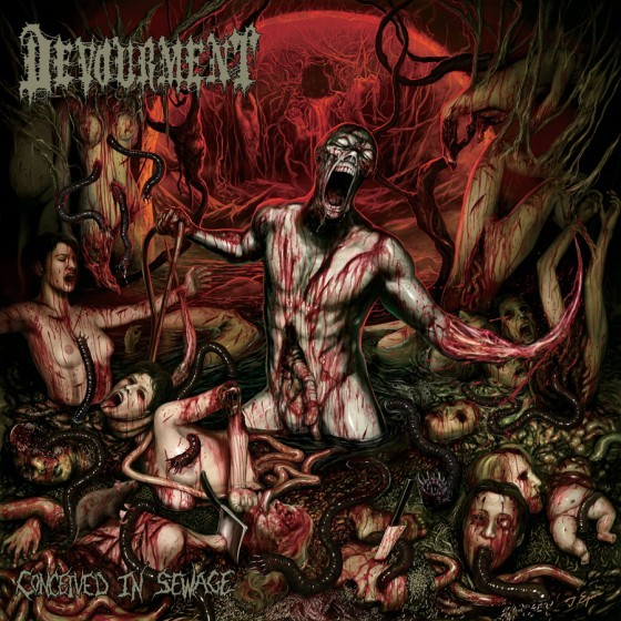 DEVOURMENT, conceived in sewage cover
