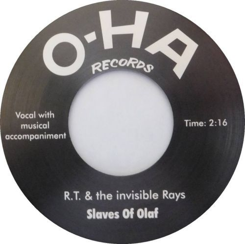 RAYMOND THOMPSON & THE INVISIBLE RAYS, slaves of olaf cover