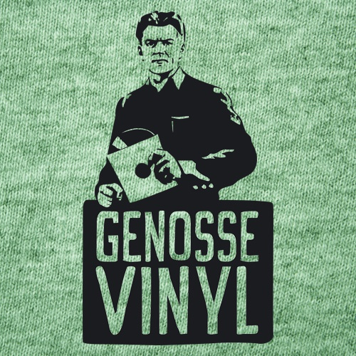 Cover STEFAN CLAUDIUS, genosse vinyl (boy), mid heather green