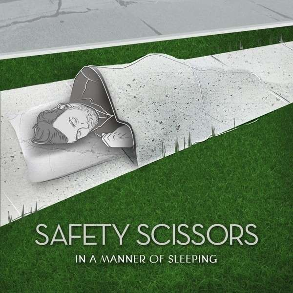 Cover SAFETY SCISSORS, in a manner of sleeping