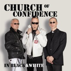 Cover CHURCH OF CONFIDENCE, in black & white
