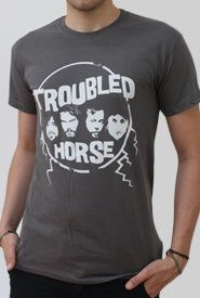TROUBLED HORSE, logo_grey cover