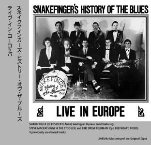 Cover SNAKEFINGER, history of blues - live in europe