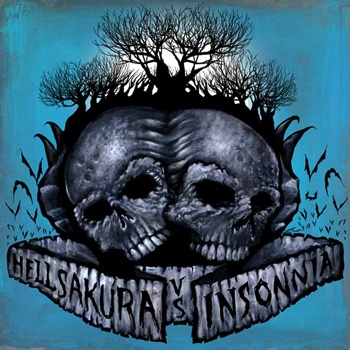 HELLSAKURA / INSONNIA, split cover
