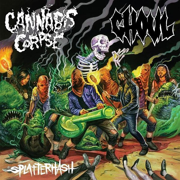 Cover CANNABIS CORPSE / GHOUL, splatterhash