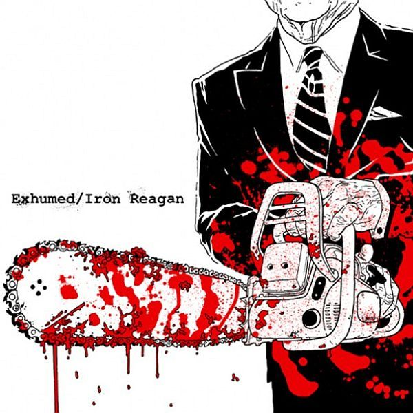 Cover EXHUMED / IRON REAGAN, split