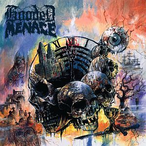 Cover HOODED MENACE, labyrinth of carrion breeze