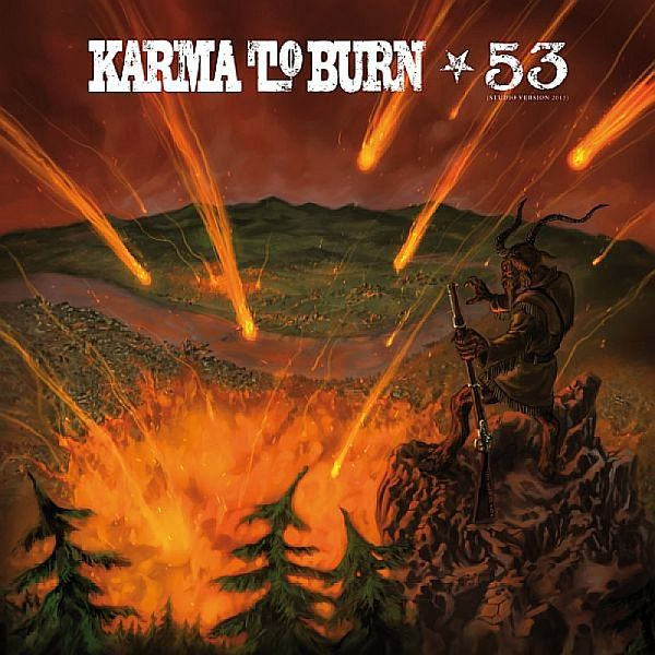 KARMA TO BURN / SONS OF ALPHA CENTAURI, split cover