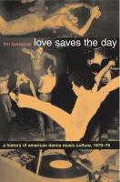 TIM LAWRENCE, love saves the day cover