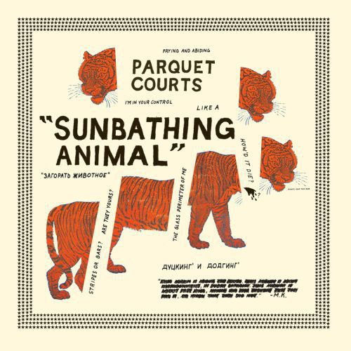 PARQUET COURTS, sunbathing animals cover