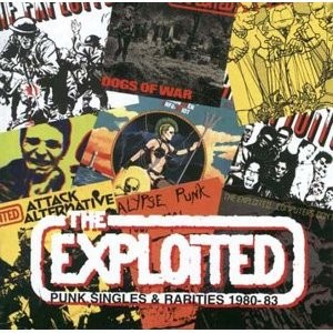 Cover EXPLOITED, punk singles & rarities 80-83