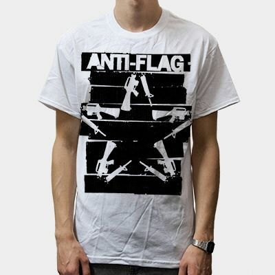 Cover ANTI-FLAG, duct tape gun star (boy) white
