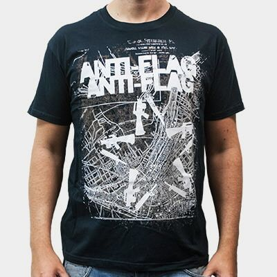Cover ANTI-FLAG, gun star map (boy) black