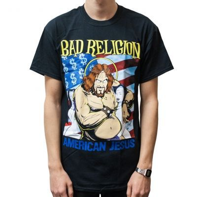 Cover BAD RELIGION, american jesus (boy) black