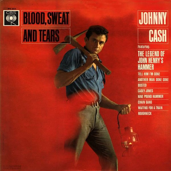JOHNNY CASH, blood, sweat & tears cover