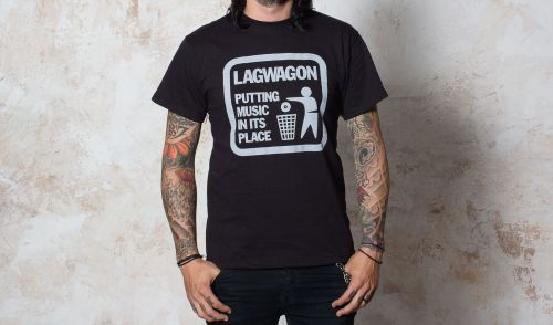 Cover LAGWAGON, putting music (boy) black