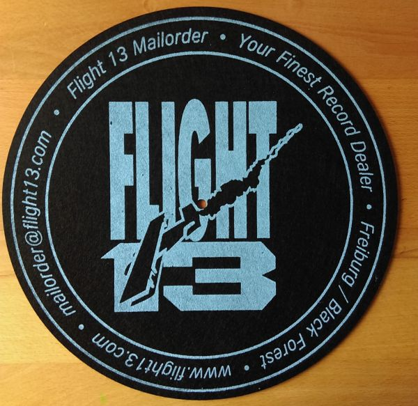 Cover SLIPMAT FLIGHT 13, logo_blue on black