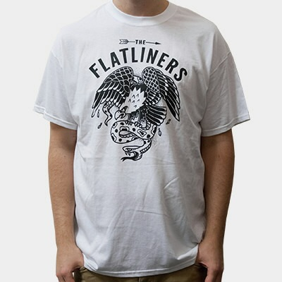 Cover FLATLINERS, snake & eagle (boy) white