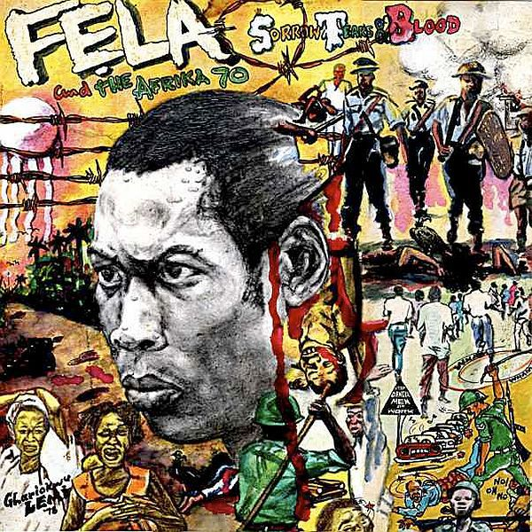 Cover FELA KUTI, sorrow tears and blood