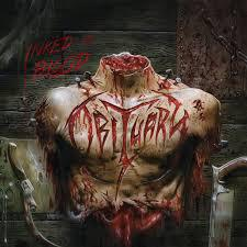 Cover OBITUARY, inked in blood