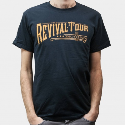 Cover REVIVAL TOUR, text (boy) black
