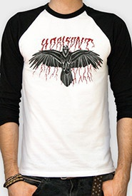 HORISONT, raven (baseball longsleeve) black/white cover