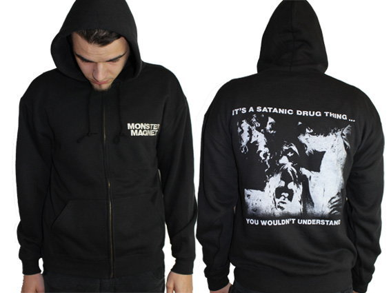 Cover MONSTER MAGNET, satanic drug thing (zip hoodie) black