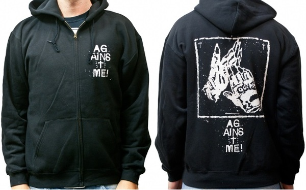 Cover AGAINST ME!, gloves (zip-hoodie) black