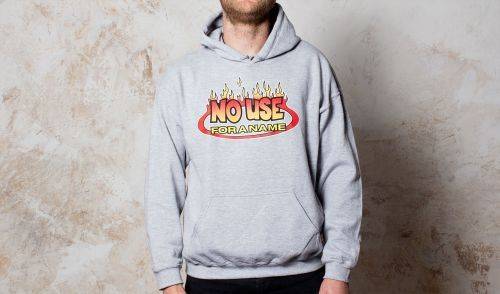 Cover NO USE FOR A NAME, flame logo (hoodie) sports grey