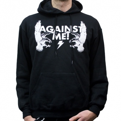 Cover AGAINST ME!, eagle (zip-hoodie) black