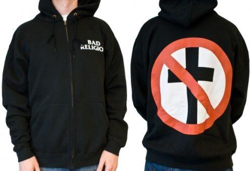 BAD RELIGION, cross buster (zip hoodie) black cover