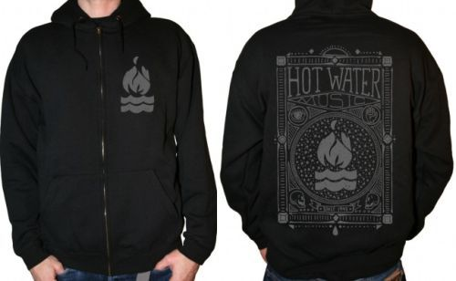 Cover HOT WATER MUSIC, americana (zip hoodie) black