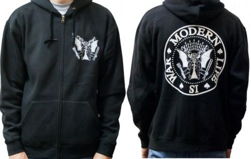 Cover MODERN LIFE IS WAR, dead ramones (zip hoodie) black