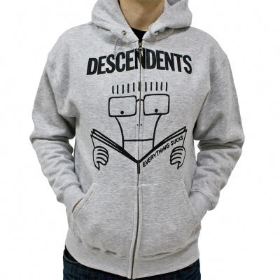 Cover DESCENDENTS, everything sucks (zip-hoodie) grey