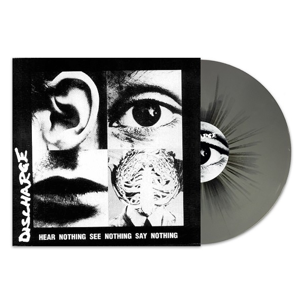 DISCHARGE, hear nothing, see nothing, say nothing cover