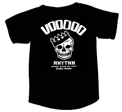Cover VOODOO RHYTHM, skull logo (boy) black