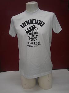 Cover VOODOO RHYTHM, skull logo (boy) white